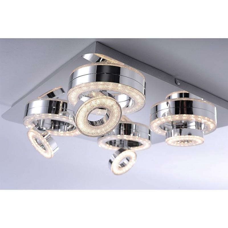 LeuchtenDirect-14522-17 - Tim - Modern LED Chrome Square 4 lights Spotlight