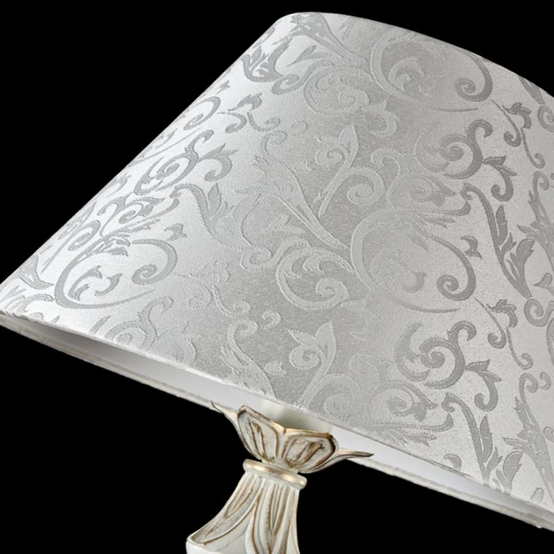 Maytoni-ARM004-00-W - Monile - Pattern White Fabric Floor lamp -White gold