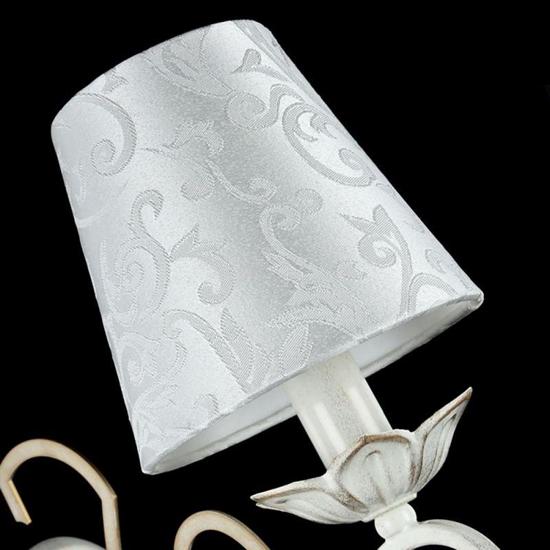 Maytoni-ARM004-01-W - Monile - Pattern White Fabric Wall lamp -White gold