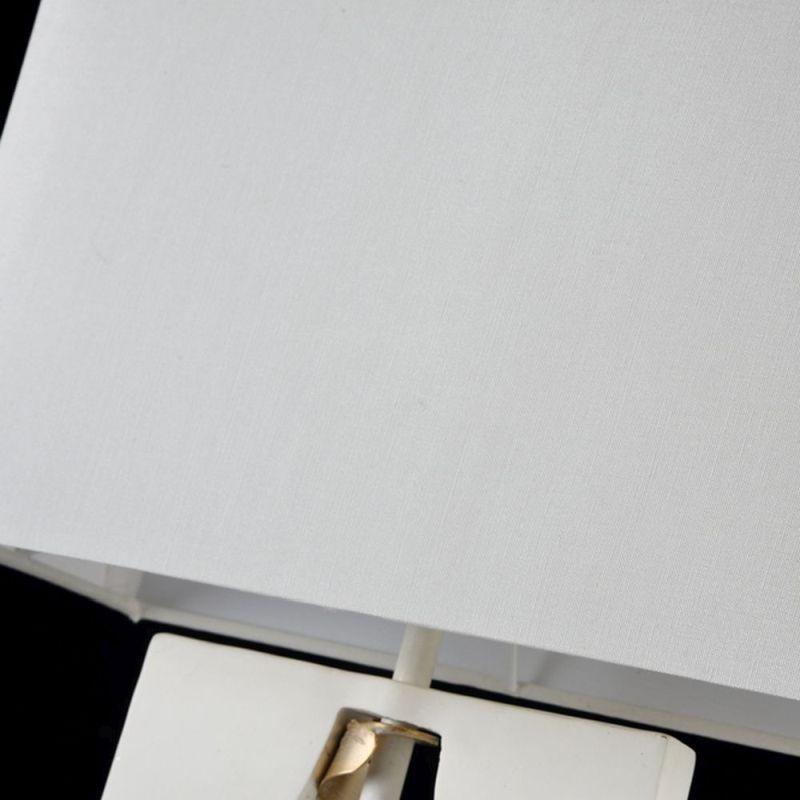 Maytoni-ARM010-11-W - Intreccio - White Fabric Table Lamp- Gold Ribbon