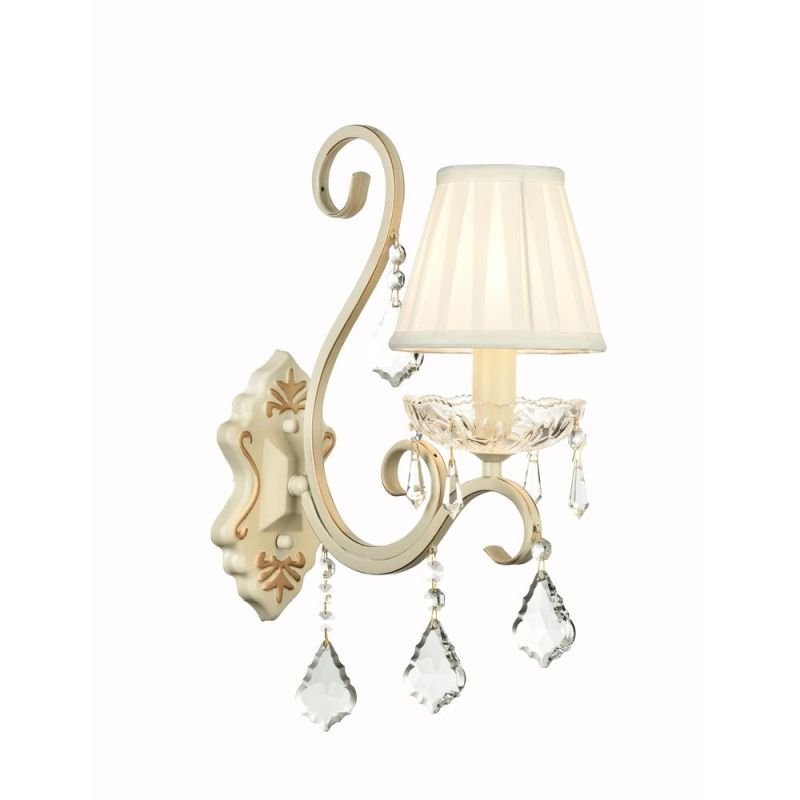 Maytoni-ARM288-01-G - Triumph - White Organza Wall Lamp- Crystal
