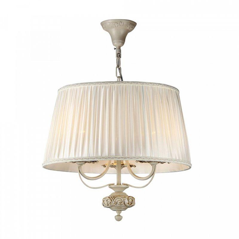 Maytoni-ARM326-33-W - Olivia - Cream Organza 3 Light Pendant- Ivory