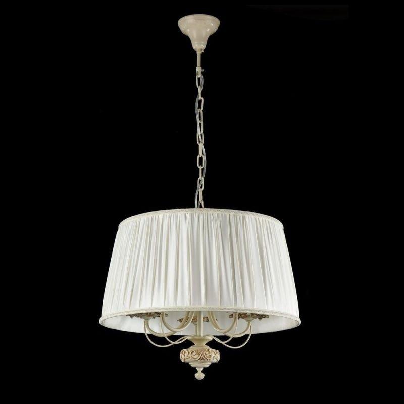 Maytoni-ARM326-55-W - Olivia - Cream Organza 5 Light Pendant- Ivory