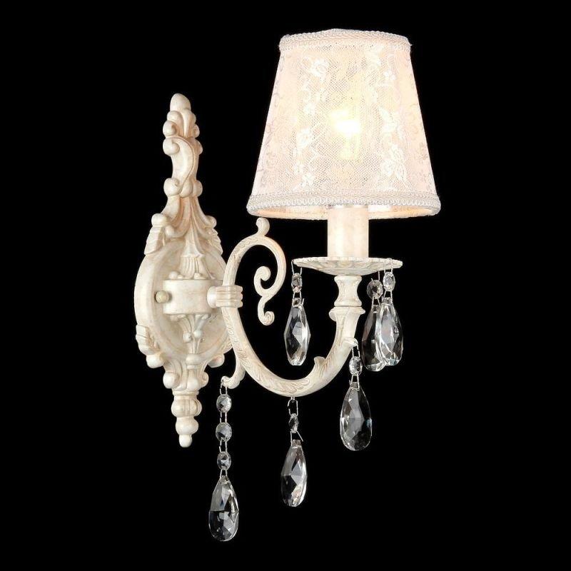 Maytoni-ARM390-01-W - Filomena - White Lace Wall Lamp -Crystal