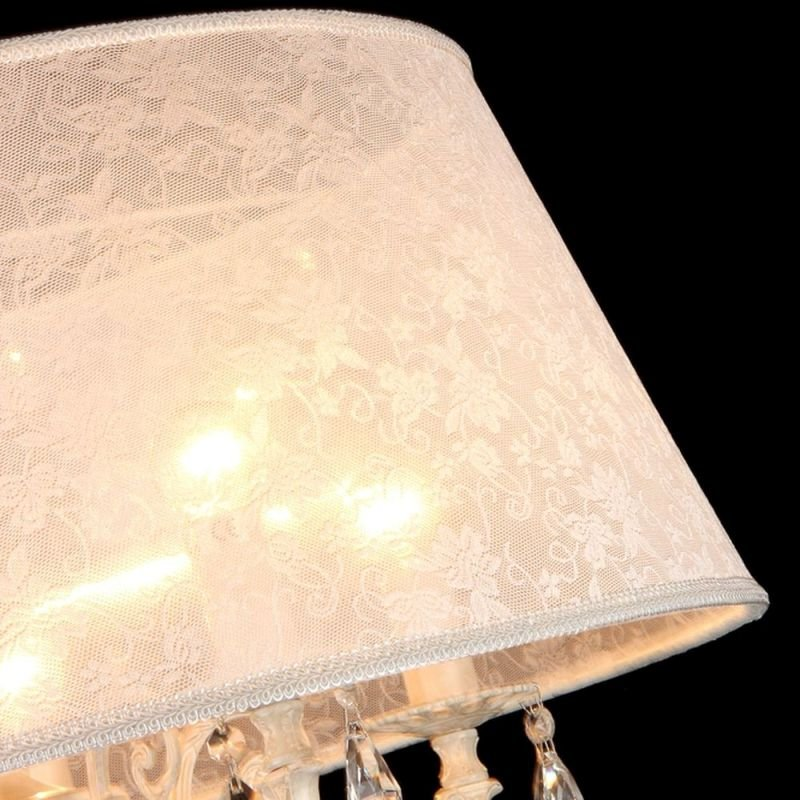 Maytoni-ARM390-33-W - Filomena - White Lace 3 Light Pendant -Crystal