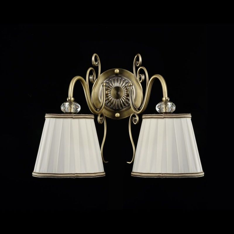 Maytoni-ARM420-02-R - Vintage - White Satin Twin Wall lamp -Bronze