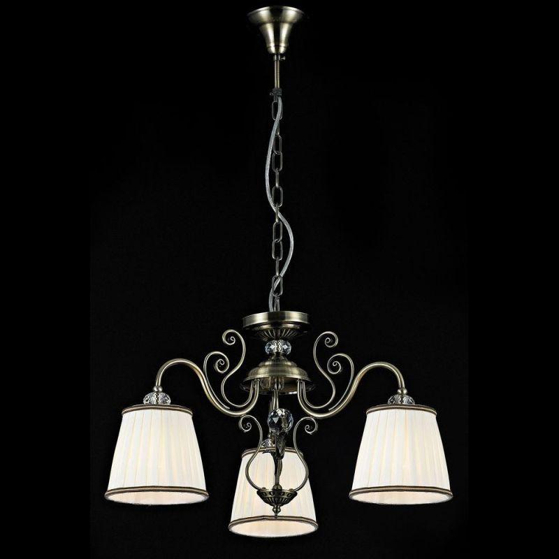 Maytoni-ARM420-03-R - Vintage - White Satin 3 Light Pendant -Bronze