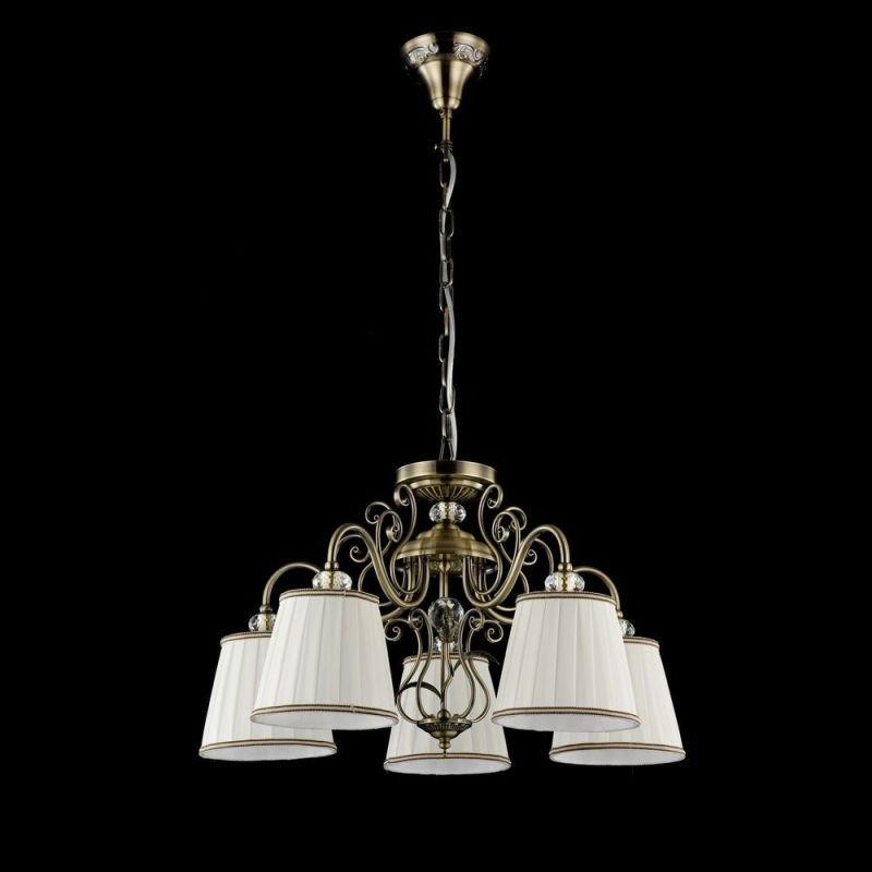 Maytoni-ARM420-05-R - Vintage - White Satin 5 Light Pendant -Bronze
