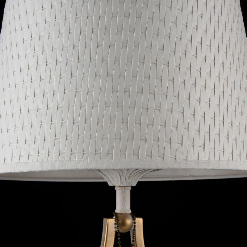Maytoni-ARM548-11-WG - Enna - White Shade Table Lamp -White and Gold