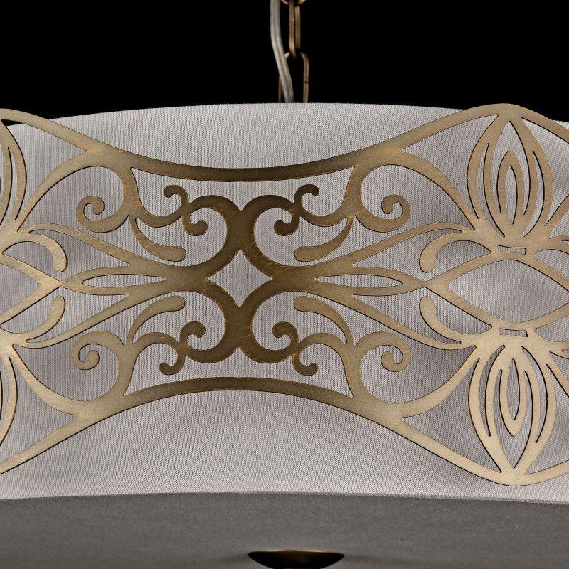 Maytoni-ARM959-PL-06-G - Burgeon - Fabric 6 Light Pendant with Stencil Pattern