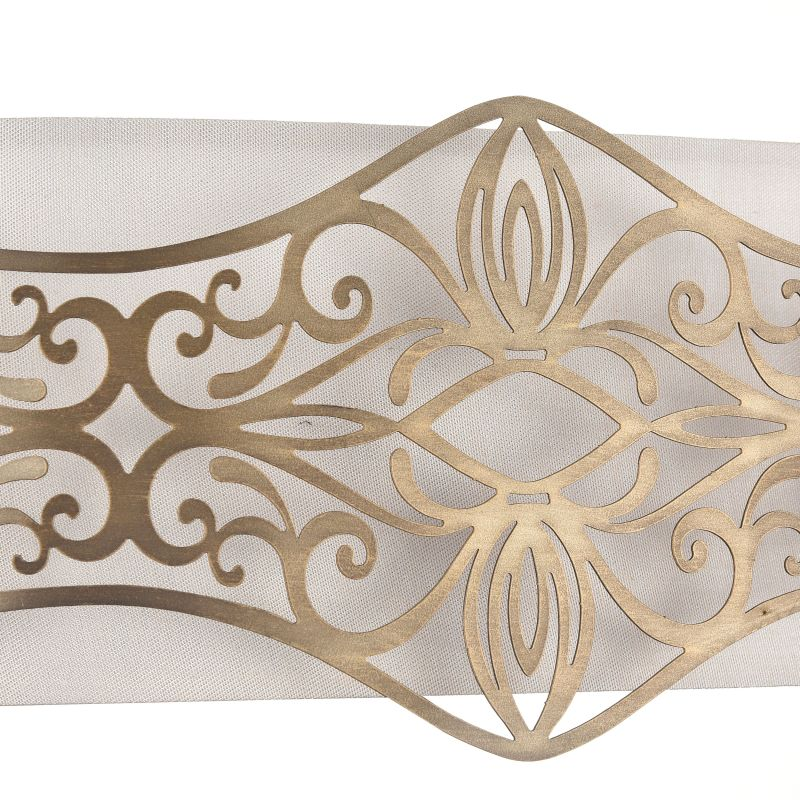 Maytoni-ARM959-WL-02-G - Burgeon - Fabric Twin Wall Lamp with Stencil Pattern