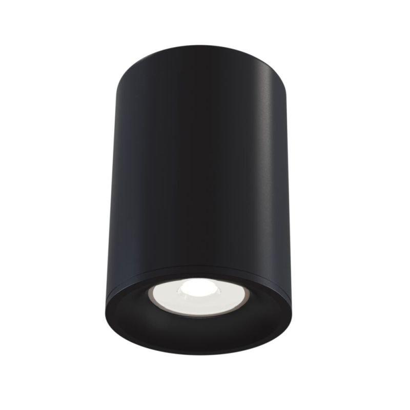 Maytoni-C012CL-01B - Alfa - Surface-Mounted Black Cylindrical Spotlight