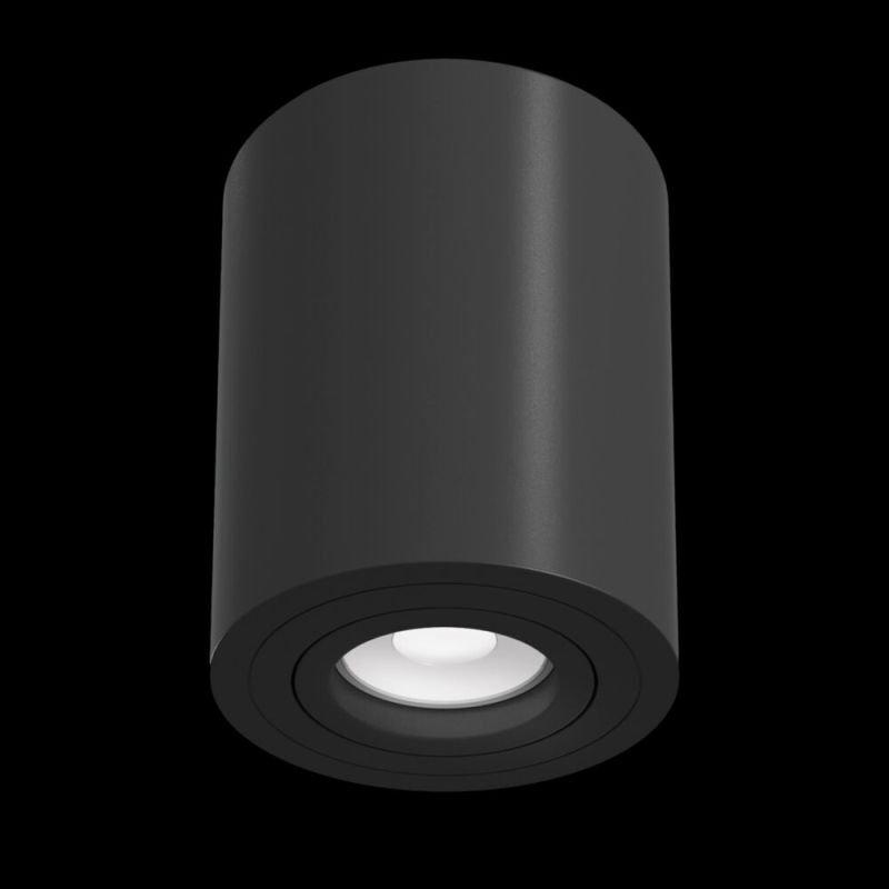 Maytoni-C016CL-01B - Alfa - Surface-Mounted Black Cylindrical Spotlight