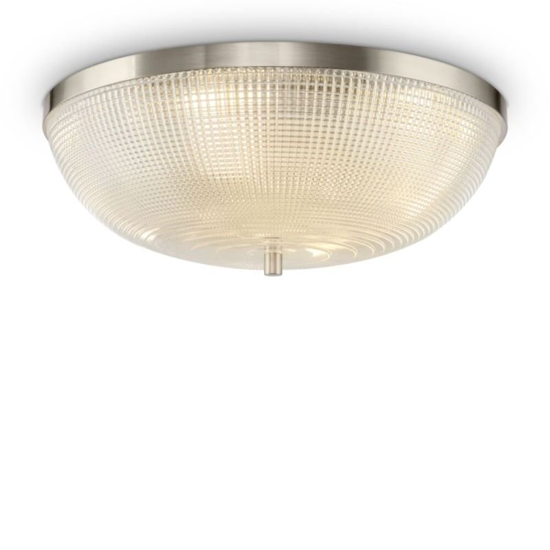 Maytoni-C046CL-04N - Coupe - Textured Glass & Nickel 4 Light Flush