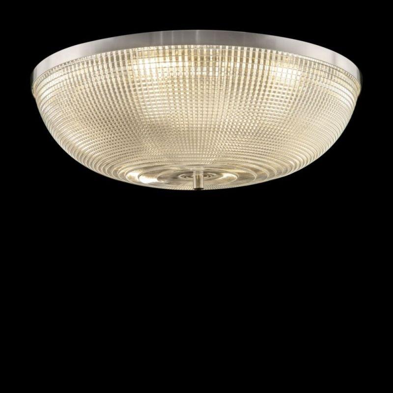 Maytoni-C046CL-06N - Coupe - Textured Glass & Nickel 6 Light Flush