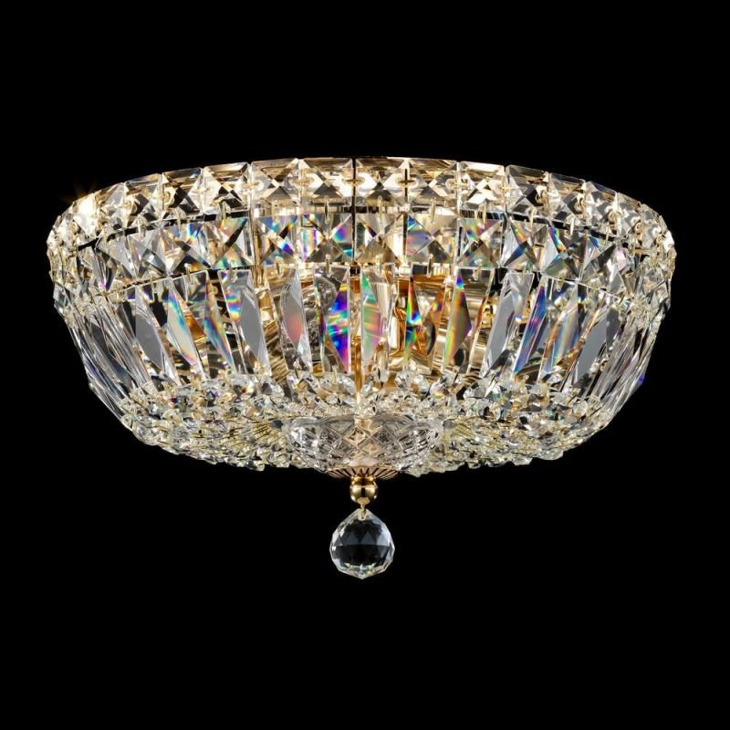 Maytoni-DIA100-CL-03-G - Basfor - Crystal Ceiling Lamp ∅ 30 - Antique Gold
