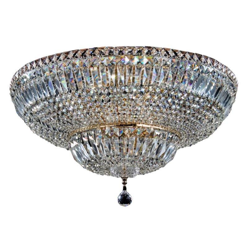 Maytoni-DIA100-CL-16-G - Basfor - Crystal Ceiling Lamp ∅ 60.5 - Antique Gold