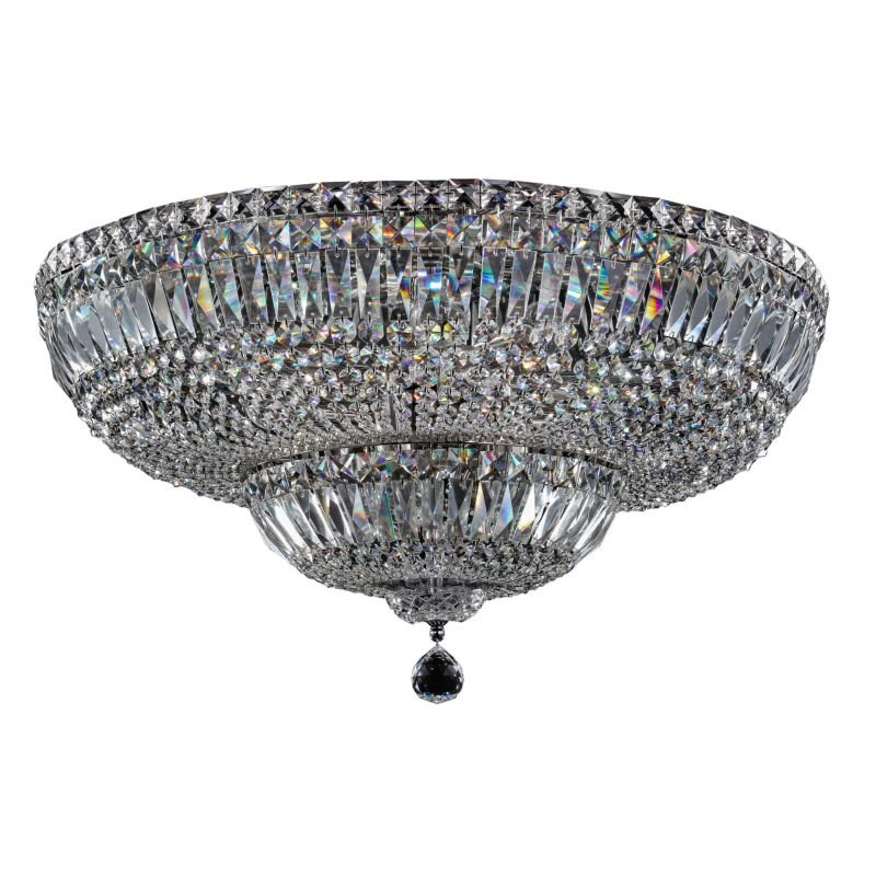 Maytoni-DIA100-CL-16-N - Basfor - Crystal Ceiling Lamp ∅ 60.5 -Nickel