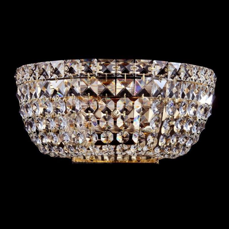 Maytoni-DIA100-WL-02-G - Basfor - Crystal Wall Lamp - Antique Gold