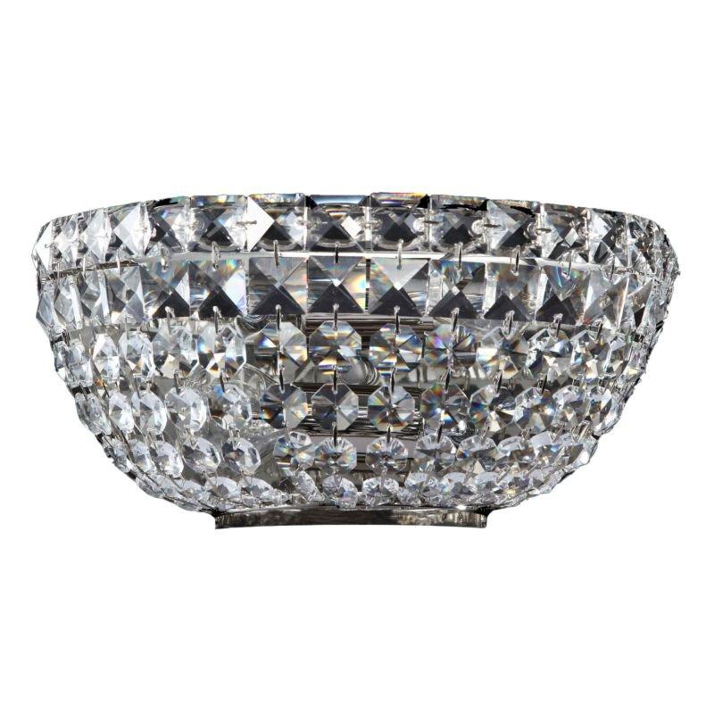 Maytoni-DIA100-WL-02-N - Basfor - Crystal Wall Lamp -Nickel