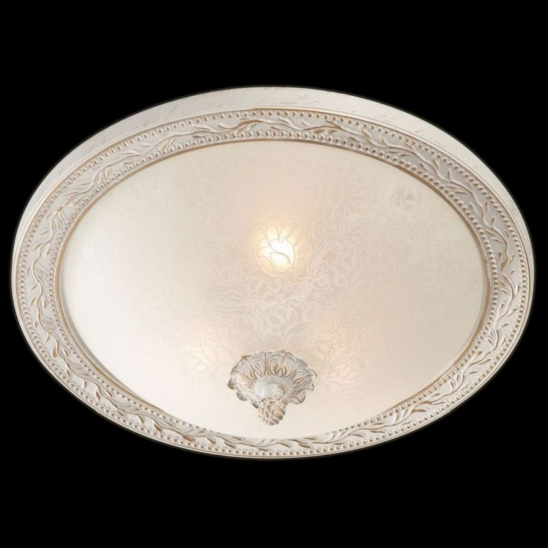 Maytoni-C906-CL-03-W - Aritos - Small Pattern Frosted Glass Ceiling Lamp -White
