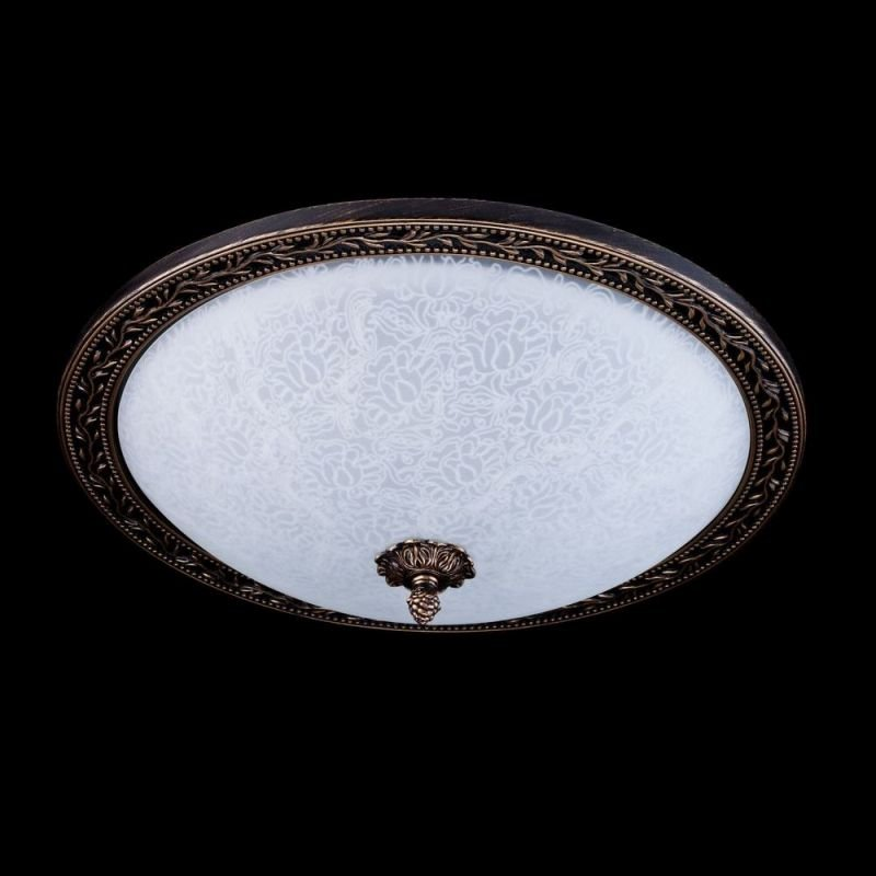 Maytoni-C906-CL-04-R - Aritos - Big Pattern Frosted Glass Ceiling Lamp -Bronze