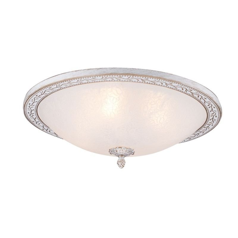 Maytoni-C906-CL-04-W - Aritos - Big Pattern Frosted Glass Ceiling Lamp -White