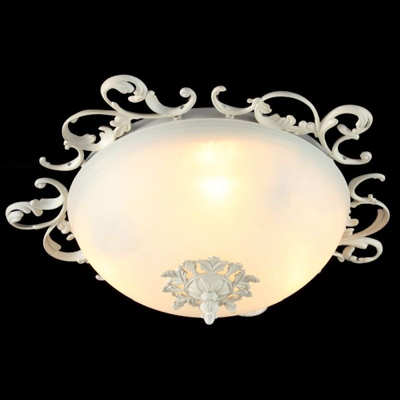 Maytoni-C900-CL-03-W - Speria - Small Frosted Glass Ceiling Light -Cream