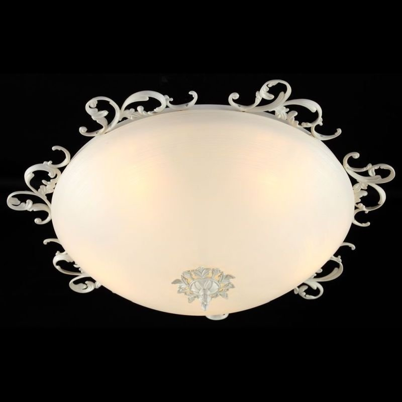 Maytoni-C900-CL-05-W - Speria - Big Frosted Glass Ceiling Light -Cream
