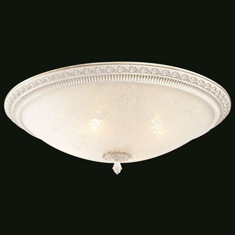 Maytoni-C908-CL-04-W - Pascal - Big Pattern Frosted Glass Ceiling Lamp -White