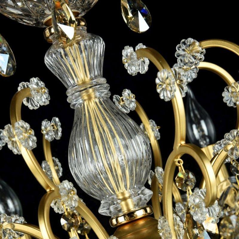 Maytoni-DIA004-08-G - Sevilla - Crystal 8 Light Chandelier -Gold