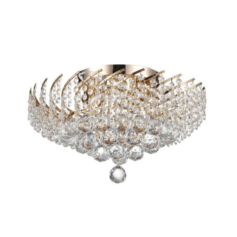 Maytoni-DIA120-06-G - Karolina - Crystal 6 Light Ceiling Lamp -Gold