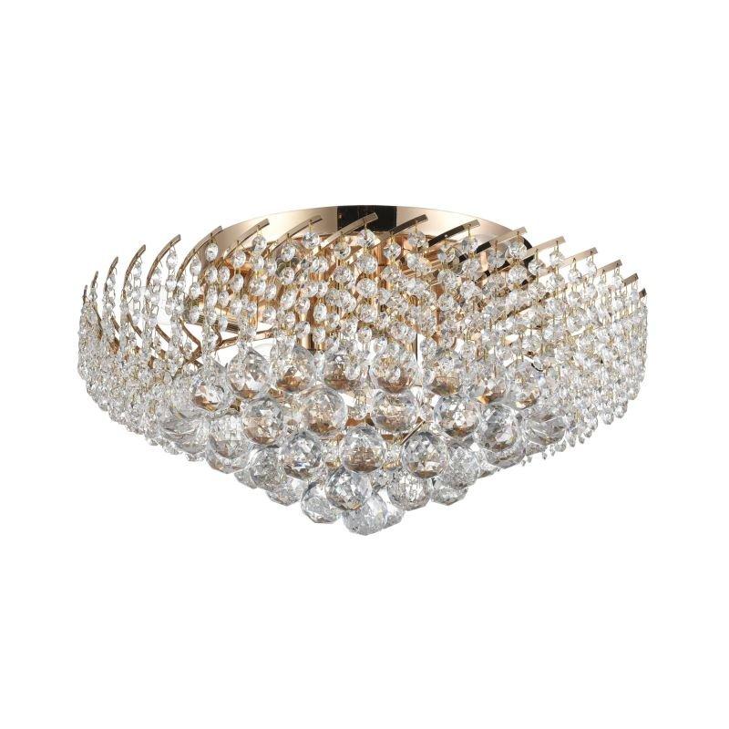 Maytoni-DIA120-09-G - Karolina - Crystal 9 Light Ceiling Lamp -Gold