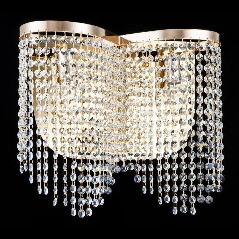 Maytoni-DIA600-02-G - Toils - Crystal 2 Light Wall Lamp -Gold