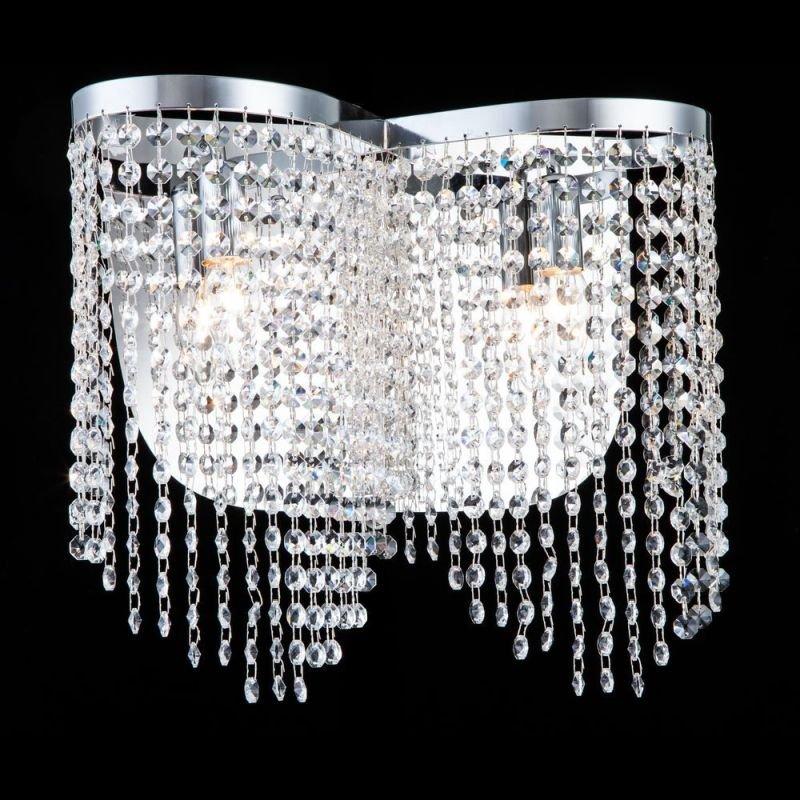 Maytoni-DIA600-02-N - Toils - Crystal 2 Light Wall Lamp -Nickel