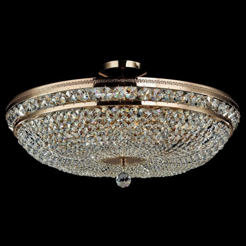 Maytoni-DIA700-CL-12-G - Ottilia - Crystal Ceiling Lamp ∅ 65 -Gold