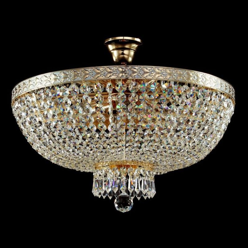 Maytoni-DIA750-PT50-WG - Bella - Crystal Ceiling Lamp - Gold