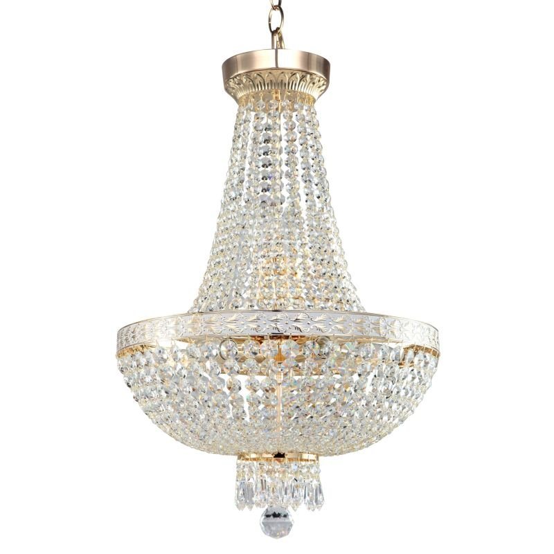 Maytoni-DIA750-TT40-WG - Bella - Crystal 7 Light Chandelier -White gold
