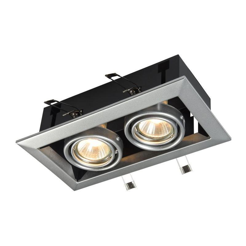 Maytoni-DL008-2-02-W - Metal Modern - White Double Recessed Light