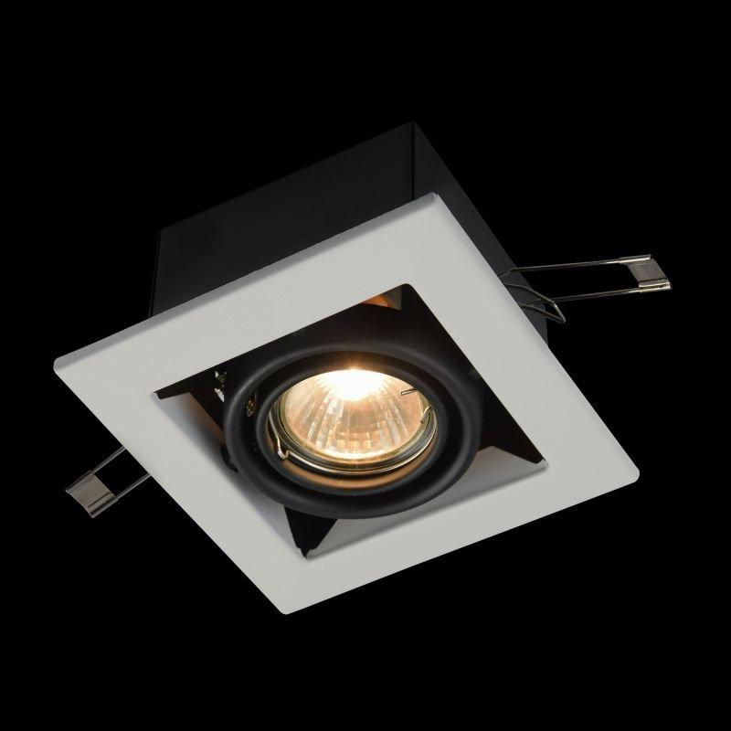 Maytoni-DL008-2-01-W - Metal Modern - White Square Single Recessed Light