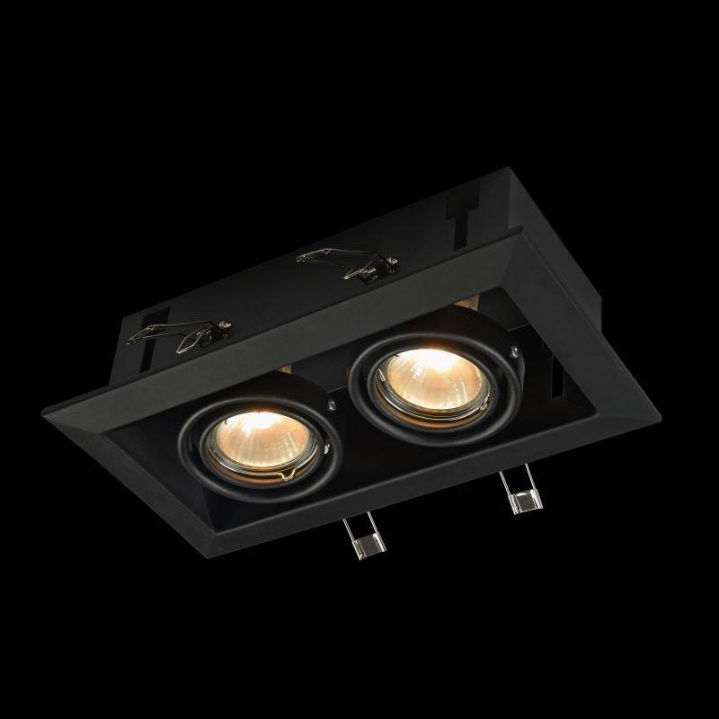 Maytoni-DL008-2-02-B - Metal Modern - Black Double Recessed Light