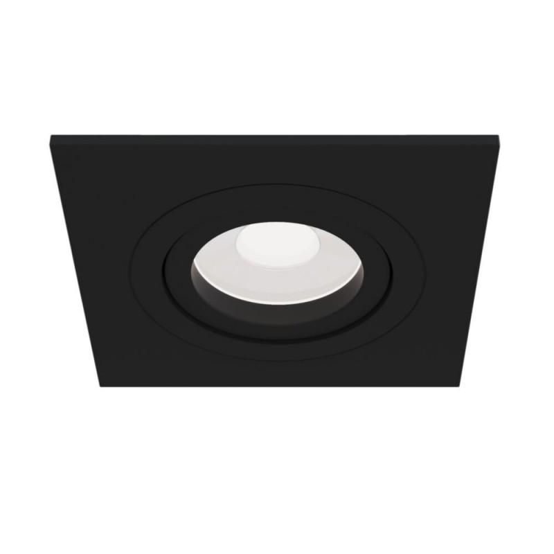 Maytoni-DL024-2-01B - Atom - Adjustable Square Matt Black Recessed Downlight 9.2 cm