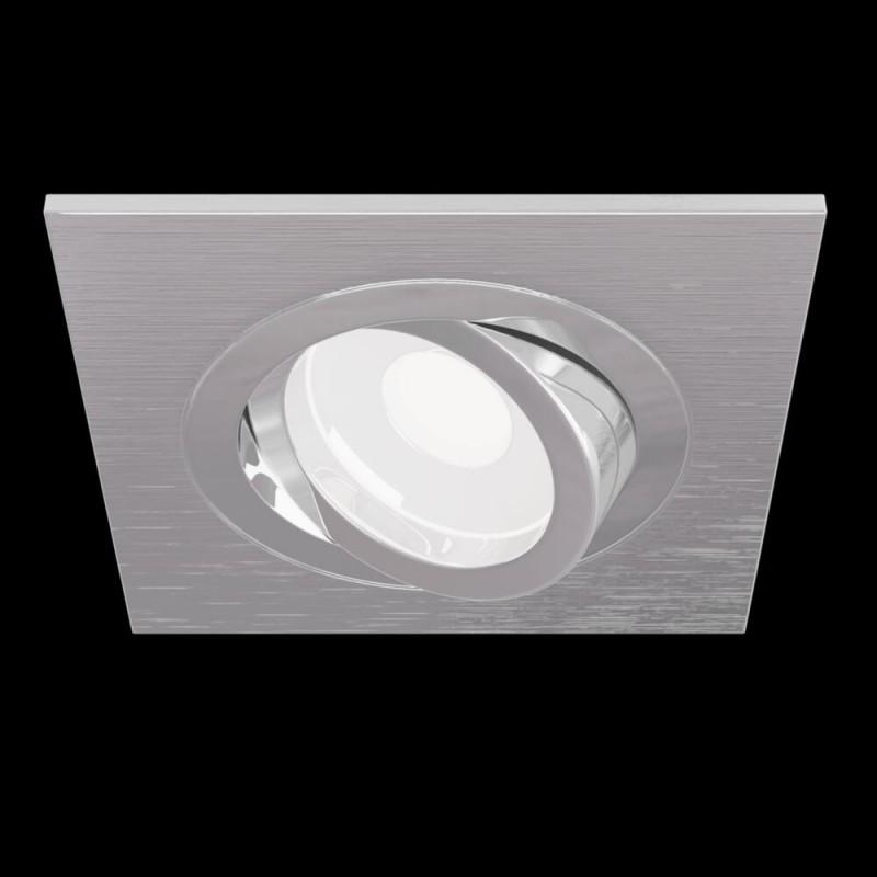 Maytoni-DL024-2-01S - Atom - Adjustable Square Silver Recessed Downlight 9.2 cm
