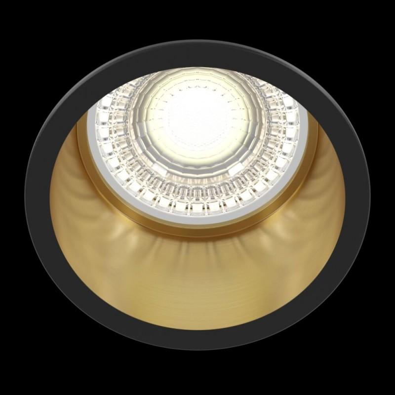 Maytoni-DL049-01GB - Reif - Black & Gold Recessed Downlight Ø 6.8 cm