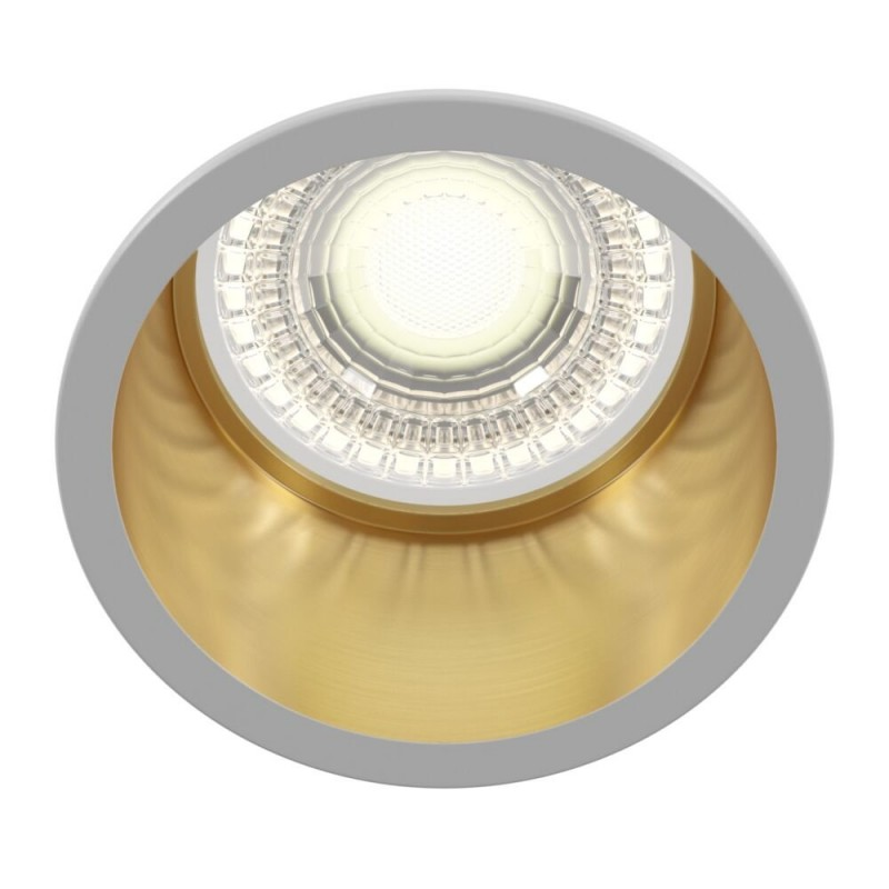 Maytoni-DL049-01WG - Reif - White & Gold Recessed Downlight Ø 6.8 cm