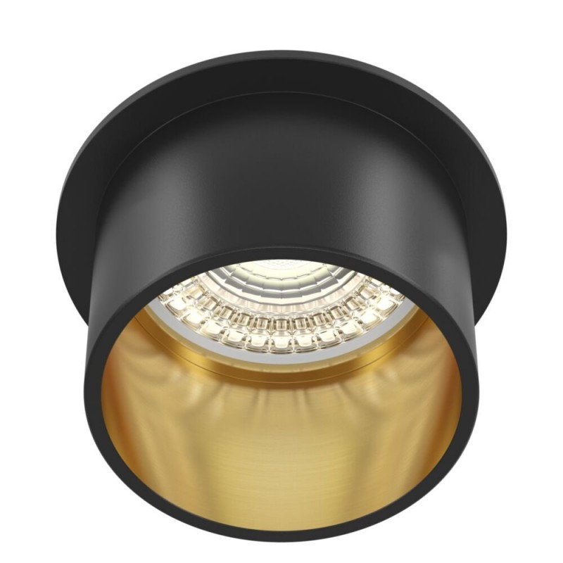 Maytoni-DL050-01GB - Reif - Black & Gold Recessed Downlight Ø 6.8 cm