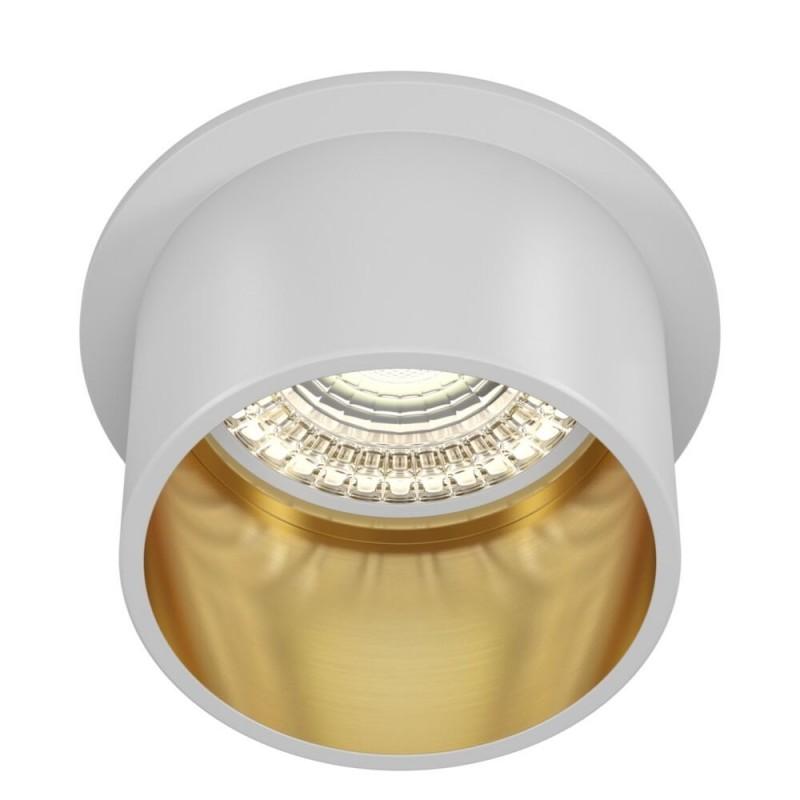 Maytoni-DL050-01WG - Reif - White & Gold Recessed Downlight Ø 6.8 cm