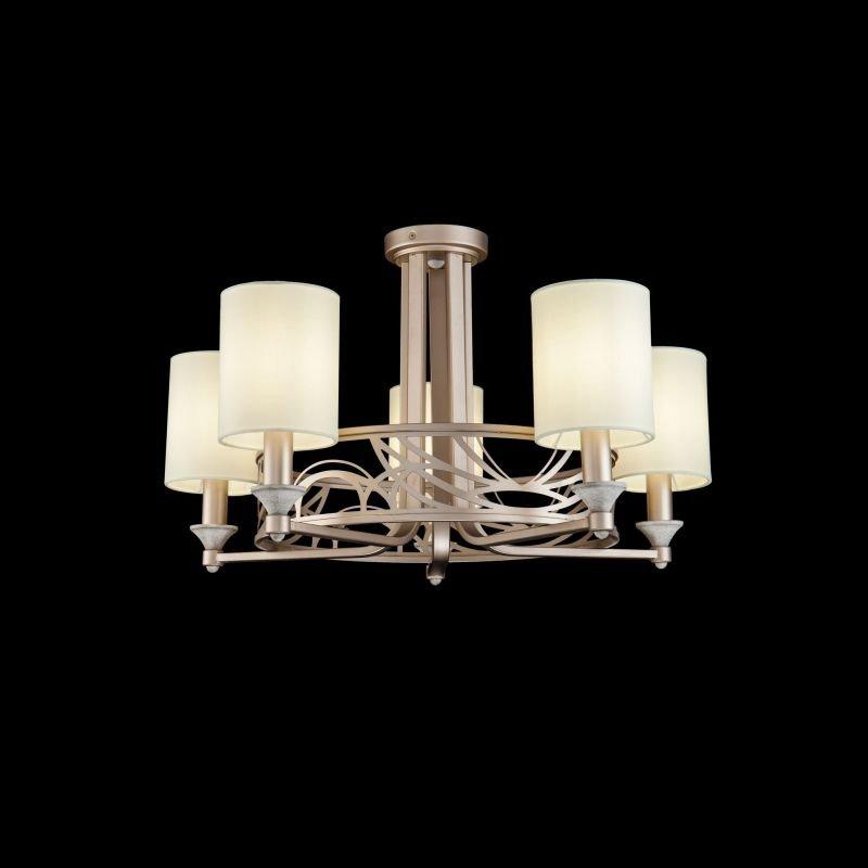 Maytoni-H004CL-05BG - Vittoria - Cream Shades with Cream Gold 5 Light Centre Fitting