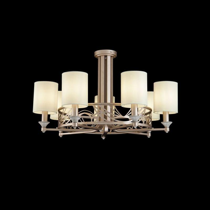 Maytoni-H004CL-07BG - Vittoria - Cream Shades with Cream Gold 7 Light Centre Fitting