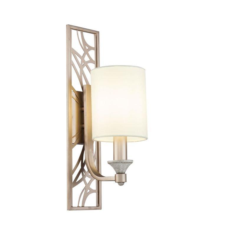 Maytoni-H005WL-01BG - Vittoria - Cream Shade with Cream Gold Wall Lamp